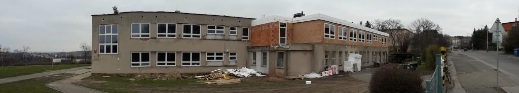 Oprava ZŠ Beníškové, stav z března 2015
