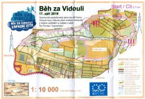 Běh za Vidouli 2019 - mapa trasy