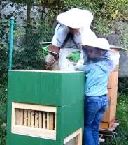 Děti si zkusily být včelařem (pořádali včelaři z Prahy 5)